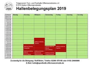 Hallenbelegungsplan
